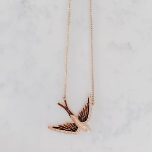 Jewelry - Brown and Gold Sparrow Necklace